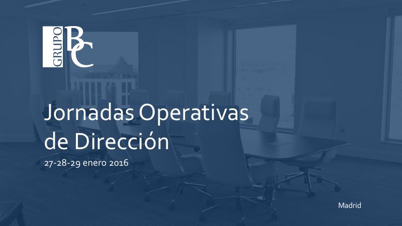 Jornadas Operativas Dirección GBC